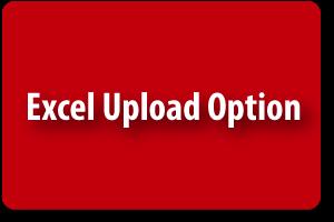 Excel Upload Option