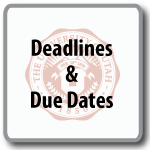 Deadlines & Due Dates