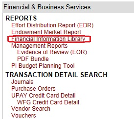 Financial Information Library