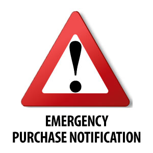 Emergency Purchase Notification