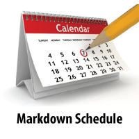 Markdown Schedule