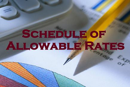 Schedule of Allowable Rates