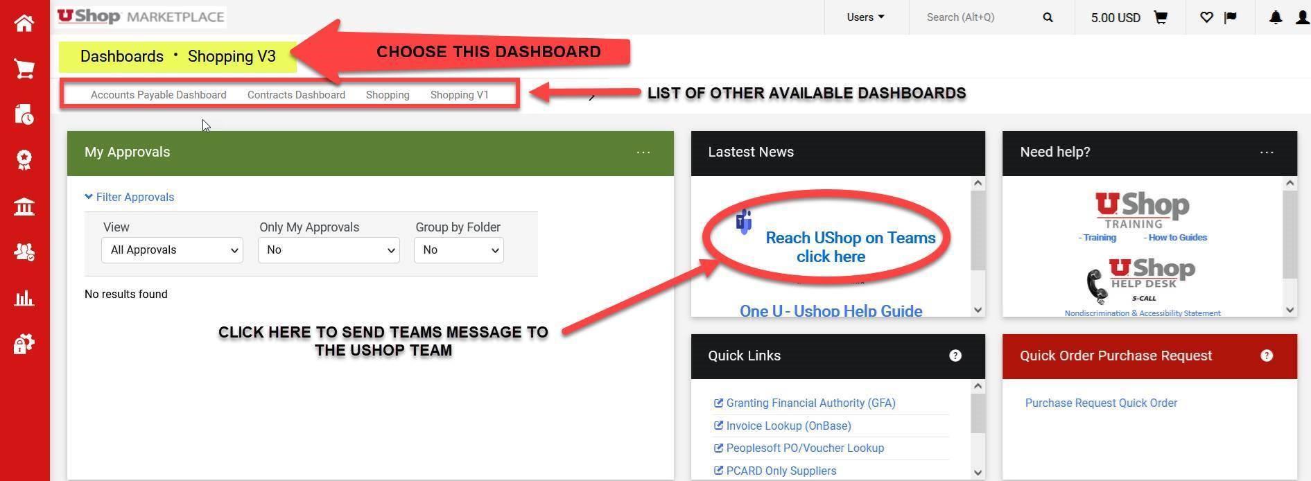 UShop Help Via Teams Now Available